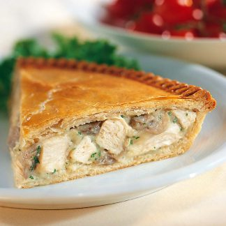 chicken and ham pie dinner