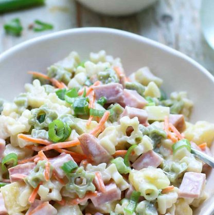 Pasta, Ham and Pineapple salad, now available to order online.