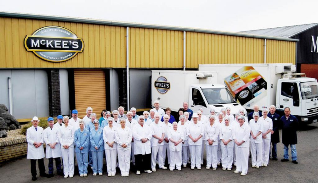McKee's factory and delivery staff ready themselves for the new venture by the business.
