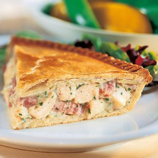 Large chicken and ham pie - available for delivery