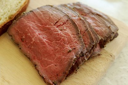 Succulent Roast Beef Slices - Pre-Cooked and ready for delivery